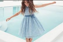 Il Gufo SS15 - World of Water / We plunge into the depths of a world of water, where the wasser has grown more intense in shades of blue and brown.    Dresses and skirts in linen, tulle and lace for baby girls further underline the magic of this pairing, like a manta ray that moves smoothly through the water. More on www.ilgufo.it