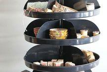 craft storage ideas / by Mardi Sheridan