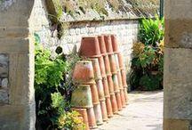 Pots de fleurs terre cuite