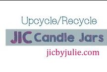 Upcycled JIC Candle Jars / Learn to upcycle & recycle your JIC Candle Jars jicbyjulie.com beautifulmess.elementfx.com