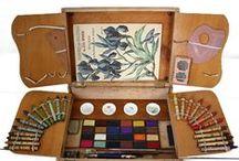 vintage watercolors boxes / anciennes Boites d'aquarelle