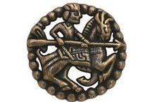 Boutons representant un chevalier