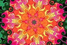 """Colliding Colors / I find inspiration with color, and I grabbed some jewelry, took photos and created kaleidoscope designs.  I hope you enjoy the """"colliding colors""""! / by Beaded Jewelry Diva"""