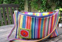 Haken/Crochet - tassen, manden en etuis