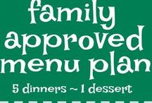 Together as Family : menu plans / If you need help menu planning and finding recipes for dinner for your family, then look here. Five dinner ideas and 1 dessert every single week, planned out for you at www.togetherasfamily.com