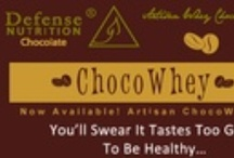 Defense Nutrition Choco Whey / You'll swear it tastes too good to be healthy... A  new addition to the Defense Nutrition line, ChocoWhey™ is a unique chocolate with a high protein content, no sugar added and a remarkably delicious taste, designed for safe and healthy consumption without side effects.  ChocoWhey™ is the only chocolate made from premium whey and the finest cacao beans. It has unmatched potential to nourish your body and satisfy cravings without disrupting your health.