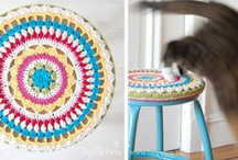 Stool Covers / Knits for Life can make your custom knitted and crochet stool, chair, bench, furniture covers and home decor. / by Lorna Watt