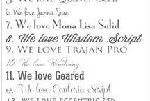 Fonts & Printables. / by Susan Duane