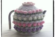 Coasters + Coffee Cup (_)c & Teapot Cozies / One of these days I need to buy myself a teapot..lol. A lot of the teapot cozies won't have a crochet pattern, but I love looking at them just the same. / by Mitzi Christian (krikket207)