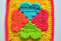 "⌘ C2 (6"" Crochet Squares) ⌘ / All sizes are approximate"