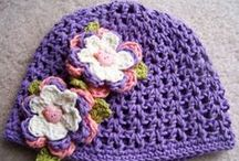 Hats for Girls ~ Crocheted / Hats for baby girls & big girls / by Mitzi Christian (krikket207)