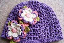 Hats for Girls ~ Crocheted / Hats for baby girls & big girls / by Mitzi Christian (krikket207)