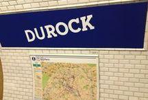 Durock 2015 / #FR En partenariat avec la RATP, découvrez une sélection de l'exposition Rock'Art en avant-première du 15 au 22 juin à la station DUROC (Métro lignes 10 et 13), renommée DUROCK pour l'occasion ! Ces mêmes affiches accueilleront également les festivaliers qui arriveront par la station Boulogne – Pont de Saint-Cloud (ligne 10) pendant l'événement en août.  #EN Discover the illustrations of the line-up on the walls of the subway station Duroc from 15th June to 22th June. / by Rock En Seine