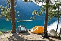 Camping, glamping, caravan