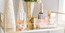 How to Style a Bar Cart / Inspiration for how to style a bar cart!