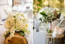 Flowers + wood / Me (florist) and hubby (woodworker)