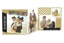 Premium Holiday Cards / Dazzle and delight your family and friends with one of our premium holiday cards. This season choose from clear cards, tri-folds, foil stamped or circle cards. All cards are available on tinyprints.com.
