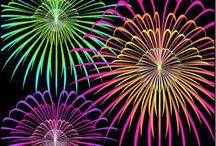 Fireworks Enjoyed / Love of fireworks at night . / by ThatGirl GoLightly