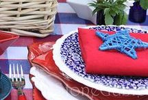 Red, White and Blue Summer Parties / We're seeing stars and stripes! Take a look at some of our favorite red, white and blue summer party ideas. Find inspiration for your next Fourth of July party or summer BBQ.