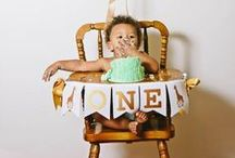 Baby's First Birthday / Oh what fun it is to be one! Celebrate your little one's first birthday in style. Browse through some of our favorite party invitations and inspiration.