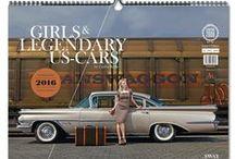 GIRLS & LEGENDARY US-CARS 2016 Calendar / Weekly calendar / Photography: Carlos Kella / Publishing House: SWAY Books / ISBN: 9783943740134 / Price: 34,90 / Order now: www.sway-books.de