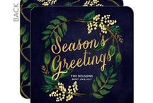 Holiday Trends: Winter Botanicals / A winter in bloom. Create a timeless feel with luscious peonies, red berries and intricate vines for your holiday cards this year.