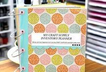CRAFT SUPPLY INVENTORY PLANNER / This Craft supply planner is perfect for organizing your craft supplies and more... all sheets come in pdf and jpeg formats. http://thecuttingcafe.typepad.com/the_cutting_cafe/2015/04/craft-supply-planner-printable-set.html