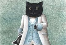 cat art 2 / by Cynthia Wilson