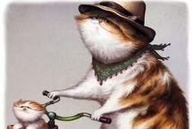 cat art 4 / by Cynthia Wilson