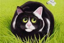 cat art 5 / by Cynthia Wilson
