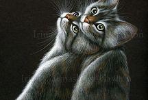 cat art 1 / by Cynthia Wilson
