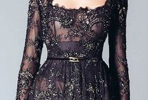 couture gowns - black / by Cynthia Wilson