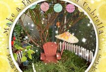 Faeries + Miniatures / Faeries,  recycled art sculptures, small space gardening lovely miniatures and more!