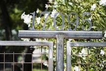 fence, trellis, steel