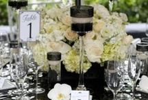 Black & White Wedding Ideas and Inspiration / Black and white weddings are classic and elegant. Black and white coordinates with season and theme and can be traditional to ultra modern.  You can't go wrong with this timeless wedding color palette.  There are infinite possibilities for decor and supplies. Make sure to follow this board for updates and ideas for your black and white wedding!  / by Little Things Wedding Favors