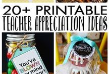 educate :: teacher gifts and print / Ideas for gifts for teachers, and school related printables