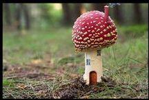 Faerie + Toadstools / Faerie Garden Mushrooms