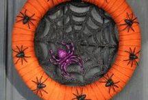Halloween & Fall Wreath + Door Decor