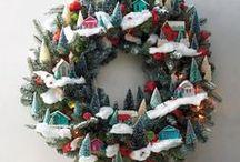 Christmas Wreath + Door Decor