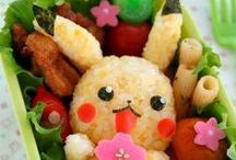 Bento Boxes / Bento is a single-portion takeout or home-packed meal common in Japanese cuisine. A traditional bento consists of rice, fish or meat, and one or more cooked vegetables, usually in a box-shaped container. They can be arranged to look like animals, cartoon characters, plants and more.