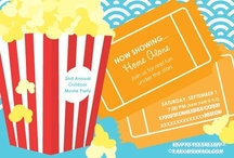 Reel Outdoor Movie Fun / inspiring ideas for an outdoor movie party including food and drinks, decor and more