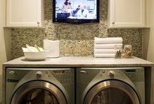 Decorating: Laundry Rooms (Shared) / Some day I want to break through a wall and make a huge bathroom/laundry room/bedroom suite in our small house!! To join, let me know on the first BOARD on my home PAGE ❤`✿.¸¸ / by Jo Levy