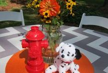 """Sound the Alarm! Fire Truck Birthday / decor, favor and cake ideas for a modern and playful """"fire truck"""" 1st birthday celebration"""