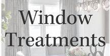 Window Treatments / Window treatments, styling windows, window treatment ideas.
