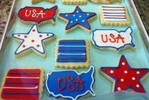July 4th Patriotic Party Ideas / Patriotic and Red, White and Blue Entertaining Party Ideas ~ Food, Drinks, Decorations & Crafts for Memorial Day, July 4th and other Patriotic Holidays / by Janis Brett Elspas