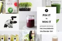 TheBlenderGirlxTheChalkboardMag / New year, new you!   Enter to win Pressed Juicery's most popular 3 day juice cleanse, a copy of The Blender Girl, a copy of Pressed Juicery's JUICE book + an Omega juicer.  / by The Chalkboard Mag