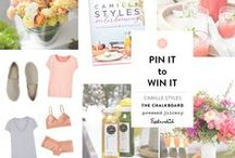 TCM x Camille Styles / Get ready for spring and enter to win a spring outfit from Splendid, Pressed Juicery Cleanse and Camille Styles' entertaining book.   / by The Chalkboard Mag