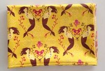 Heather Ross Brilliance / Cute overnight bag with tutorial