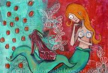 My mermaid art / by Heather Rigney- Artist & Writer
