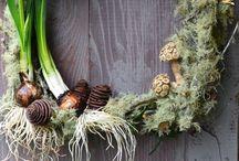 wreaths / Holiday, fall, Christmas floral wreaths